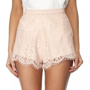 Keepsake White Electric Shorts Nude Peach Lace XS